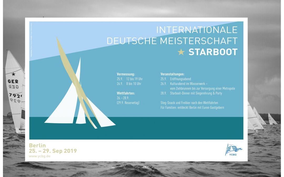 Nur noch 4 Monate bis zum Start der Starboot-IDM 2019 am Müggelsee. Am WE davor …