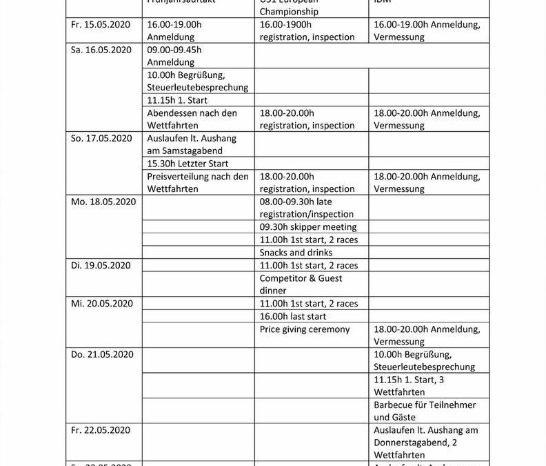 Vorläufiges Programm/ Provisional program