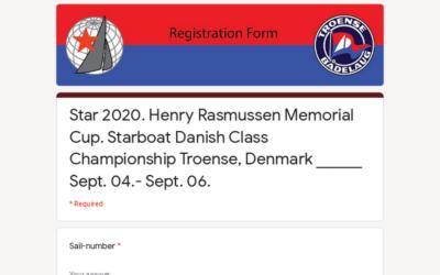Star 2020. Henry Rasmussen Memorial Cup. Starboat Danish Class Championship Troense, Denmark ______ Sept. 04.- Sept. 06.